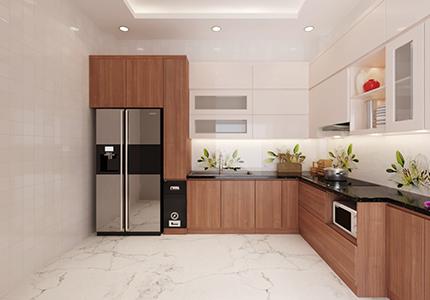 Hình ảnh tủ bếp nhà anh Đông – Hoàng Văn Thái