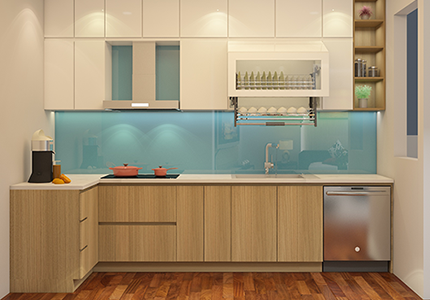 Hình ảnh Tủ bếp nhà anh Sơn – Chung cư Gamuda, Yên Sở, Hoàng Mai