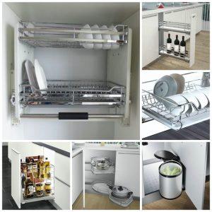 Giá góc tủ bếp – phụ kiện tủ bếp thông minh có gì?