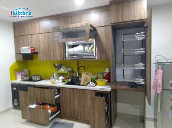 Hoàn Thiện Lắp Đặt Phụ Kiện Tủ Bếp Tại Chung cư Vinhome Ocenpark